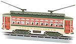 Brill Trolley Happy Holidays, Christmas -- N Scale Trolley and Hand Car -- #61085