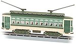 Brill Trolley - Standard DC - Green, Cream, Brown -- N Scale Trolley and Hand Car -- #61093