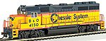 EMD GP40 Chessie #4150 -- HO Scale Model Train Diesel Locomotive -- #63525