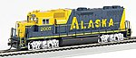 GP38-2 DCC with Sound Alaska RR #2007 -- HO Scale Model Train Diesel Locomotive -- #66804