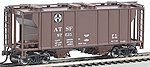 PS-2 2bay Covered Hopper ATSF -- HO Scale Model Train Freight Car -- #73501