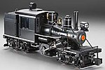 2-Truck Climax Painted, Unlettered -- G Scale Model Train Steam Locomotive -- #85097
