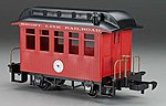 Wood Coach Li'l Big Haulers - Short Line Railroad -- G Scale Model Train Passenger Car -- #97089