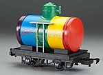 Tank Car Li'l Big Haulers - Spectrum Paints (Rainbow) -- G Scale Model Train Freight Car -- #98089
