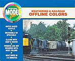 Modelflex Paint Weathering & Railroad Off Line Colors Set -- Hobby and Model Acrylic Pa -- #1702