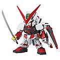 SD Gundam EX-Standard 007 Gundam Astray Red -- Snap Together Plastic Model Figure -- #0204935