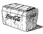 Open-Top Coke Machine - Undecorated -- O Scale Model Railroad Building Accessory -- #502