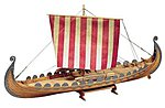 1/50 Oseberg Single-Masted 19thc. Viking Ship (Advanced)