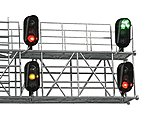 Modern Hooded Signal Head Assembled pkg(2) -- HO Scale Model Railroad Trackside Accessory -- #4039
