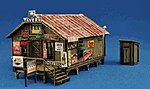 Sam's Roadhouse w/Outhouse - Kit -- N Scale Model Railroad Building -- #1003