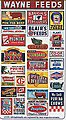 Vintage Feed & Seed Storefront & Advertising Signs -- HO Scale Model Railroad Signs -- #135