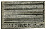 Weathered 2-Lane Wood Grade Crossing - Kit -- N Scale Model Railroad Trackside Accessory -- #15