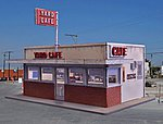 Yard/Highway Cafe Kit (4-3/4 x 3-1/4'' 12.1 x 8.3cm) -- HO Scale Model Railroad Building -- #2006