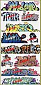 Graffiti Decals Mega Set - #10 (11) -- HO Scale Model Railroad Decal -- #2259