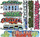 Graffiti Decals Mega Set - #11 (9) -- HO Scale Model Railroad Decal -- #2260
