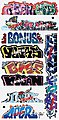 Graffiti Decals Mega #13 -- HO Scale Model Railroad Decal -- #2262
