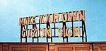 Do-It-Yourself Custom Billboard -- Model Railroad Roadway Sign -- #2550