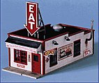 Fred & Red's Cafe -- O Scale Model Railroad Building -- #290