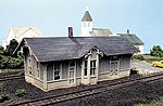 Chesapeake & Ohio Depot - Standard #1 Design Kit -- N Scale Model Railroad Building -- #85