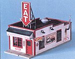 Fred & Red's Hamburgers Kit -- N Scale Model Railroad Building -- #90