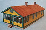 Santa Fe 6-Room Section House Kit -- N Scale Model Railroad Building -- #94