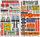 Main Street III Storefront Signs -- HO Scale Model Railroad Building Accessory -- #158
