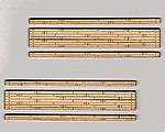 2-Lane Wood Grade Crossing (2) -- HO Scale Model Railroad Trackside Accessory -- #165