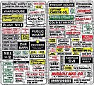 Signs of Industries -- N Scale Model Railroad Billboard Sign -- #55