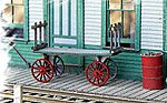 REA Baggage Cart - Kit -- O Scale Model Railroad Building Accessory -- #784