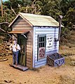 Crossing Shanty - Laser-Cut Wood Kit -- O Scale Model Railroad Trackside Accessory -- #794