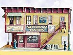 Saulena's Tavern - Kit -- HO Scale Model Railroad Building -- #932