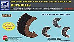 Duckbills for US M4 Sherman Tank T48 -- Plastic Model Military Vehicle -- 1/35 Scale -- #03548