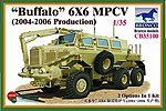 Buffalo 6x6 MPCV 2004-2006 -- Plastic Model Military Truck Kit -- 1/35 Scale -- #35100