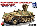 sWs 60cm Infrared Searchlight Carrier UHU -- Plastic Model Military Vehicle -- 1/35 Scale -- #35212