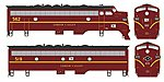 EMD F7 A-B Set w/LokSound & DCC Lehigh Valley #562, 519 -- HO Scale Model Train Locomotive -- #24062