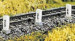 Distance/Mile Posts (10) -- HO Scale Model Railroad Trackside Accessory -- #2652
