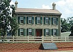The Lincoln House Laser-Cut Wood Kit -- HO Scale Model Railroad Building -- #626