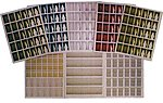 Window Treatment Sheets (8 Different Sheets) -- N Scale Model Railroad Building Accessory -- #780