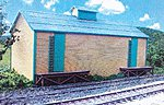 Trackside Structures - Ice House -- N Scale Model Railroad Building -- #881