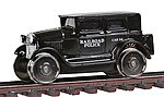 1929 Track Inspection Sedan Railroad Police (black) -- HO Scale Model Train Passenger Car -- #1908