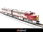 Alco PA1 Powered A-Unpowered B Set Santa Fe -- N Scale Model Train Diesel Locomotive -- #3201