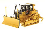 Caterpillar D6T XW VPAT Track-Type Tractor - Assembled - DM High Line Series -- Yellow, Black - 1/50 Scale