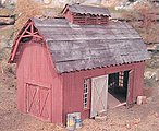 Prichards Barn -- O Scale Model Railroad Building -- #17420