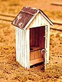 ''One Holer'' Outhouse Kit -- HO Scale Model Railroad Building -- #23005