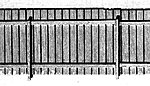 Board Fence - 90 Scale Feet -- HO Scale Model Railroad Building Accessory -- #23014