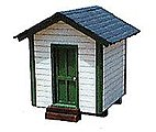 Tool Storage Shed - 1-5/8 x 2'' -- HO Scale Model Railroad Building -- #27112