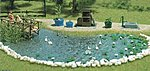 Garden Pond Set - Kit -- HO Scale Model Railroad Building Accessory -- #1210