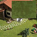 Groundcover Pad Summer -- Model Railroad Grass Earth -- #1319