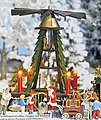Christmas Pyramid w/Figures -- HO Scale Model Railroad Building Accessory -- #1415