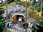 Mine Entrance 2 Rail - 9.5 x 4.3cm -- HO Scale Model Railroad Miscellaneous Scenery -- #1471